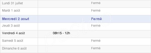 horaires d'ouverture de la Mairie D'Ansignan