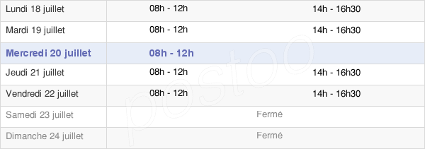 horaires d'ouverture de la Mairie De Dorres