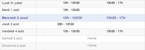 horaires d'ouverture de la Mairie De Montescot