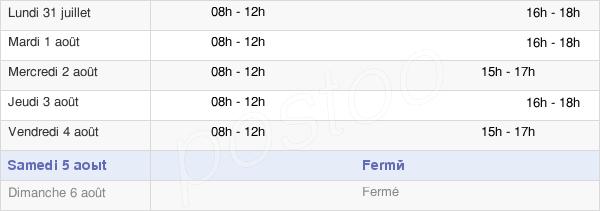 horaires d'ouverture de la Mairie De Corneilla-De-La-Rivière
