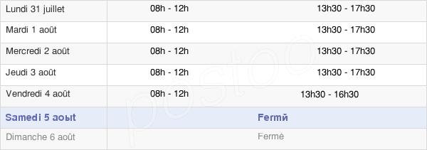 horaires d'ouverture de la Mairie De Saint-Laurent-De-La-Salanque
