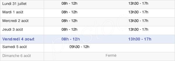 horaires d'ouverture de la Mairie D'Ille-Sur-Tet