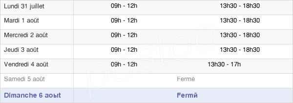 horaires d'ouverture de la Mairie De Sainte-Marie-La-Mer