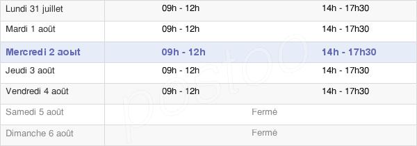 horaires d'ouverture de la Mairie D'Aigrefeuille