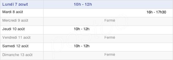 horaires d'ouverture de la Mairie De Chenas