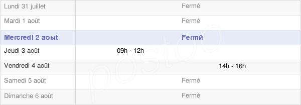 horaires d'ouverture de la Mairie De Lamure-Sur-Azergues