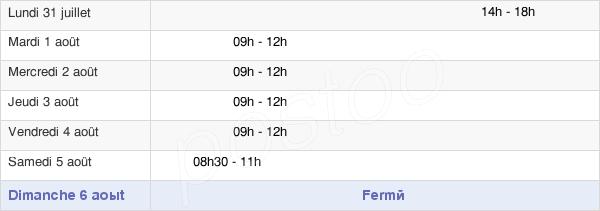 horaires d'ouverture de la Mairie De Monsols