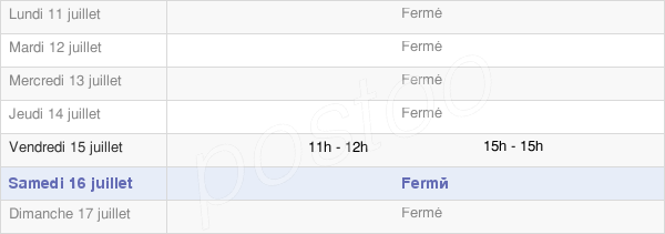 horaires d'ouverture de la Mairie De Chères