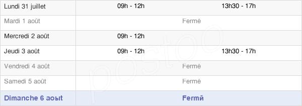 horaires d'ouverture de la Mairie De Aigueperse