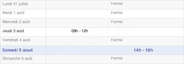 horaires d'ouverture de la Mairie De Saint Mamert