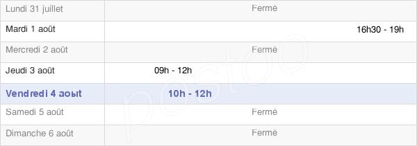 horaires d'ouverture de la Mairie D'Ouroux