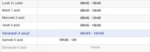 horaires d'ouverture de la Mairie De Lyon - 7e Arrondissement