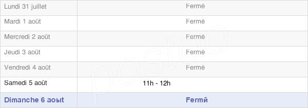 horaires d'ouverture de la Mairie De Saint-Pierre-D'Argençon