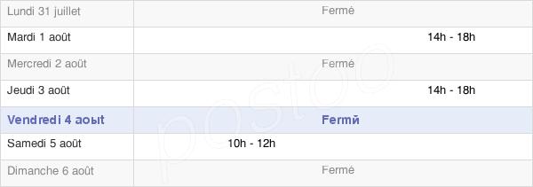 horaires d'ouverture de la Mairie De Saint Laurent Du Cros