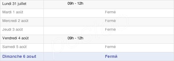 horaires d'ouverture de la Mairie De Rochebrune