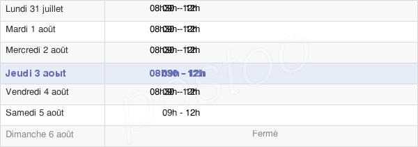 horaires d'ouverture de la Mairie D'Embrun