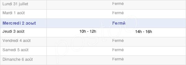 horaires d'ouverture de la Mairie De Saint-Apollinaire