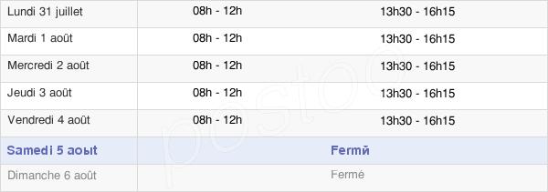 horaires d'ouverture de la Mairie De Laragne-Montéglin
