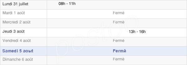 horaires d'ouverture de la Mairie De Sorbiers