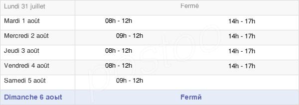 horaires d'ouverture de la Mairie De Serres