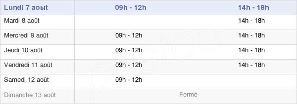 horaires d'ouverture de la Mairie D'Ayguesvives