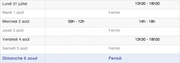 horaires d'ouverture de la Mairie De Sigoyer