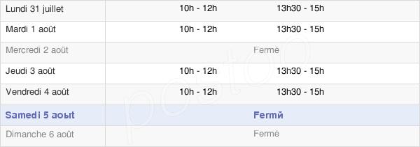 horaires d'ouverture de la Mairie De Névache