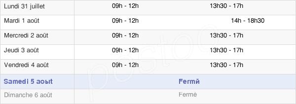 horaires d'ouverture de la Mairie De Saint Chaffrey