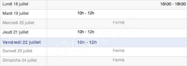 horaires d'ouverture de la Mairie De Rambaud