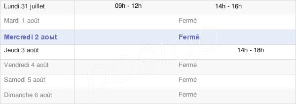 horaires d'ouverture de la Mairie De Saix