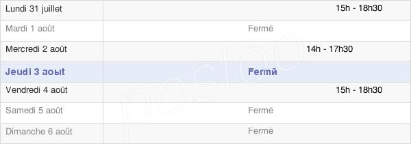 horaires d'ouverture de la Mairie De La Bâtie-Vieille