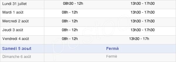 horaires d'ouverture de la Mairie D'Aubenas