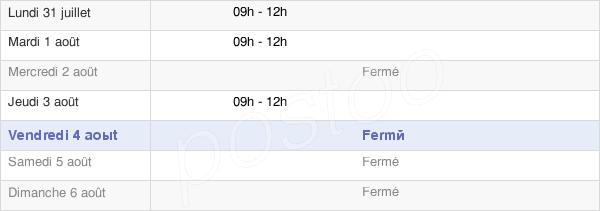 horaires d'ouverture de la Mairie De Lentillères