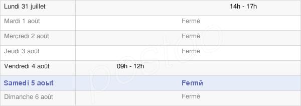 horaires d'ouverture de la Mairie De Lavillatte