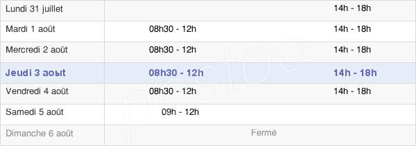 horaires d'ouverture de la Mairie De Venerque