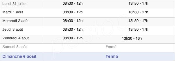 horaires d'ouverture de la Mairie De Rochemaure