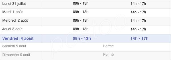 horaires d'ouverture de la Mairie De Viviers