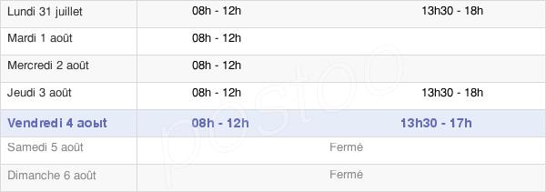 horaires d'ouverture de la Mairie D'Ucel