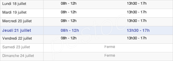 horaires d'ouverture de la Mairie Du Teil