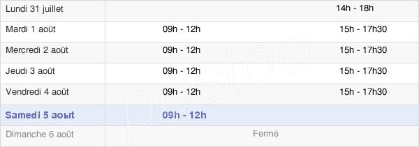 horaires d'ouverture de la Mairie De Tiercé