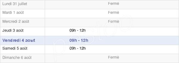 horaires d'ouverture de la Mairie De Saint-Augustin-Des-Bois