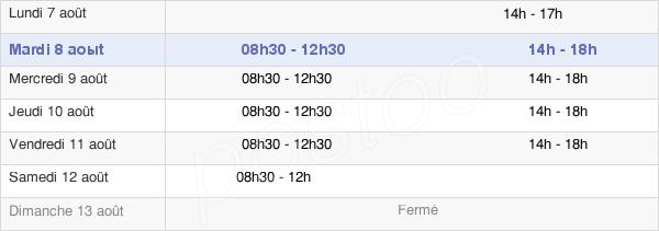 horaires d'ouverture de la Mairie De Saint-Pierre-Montlimart