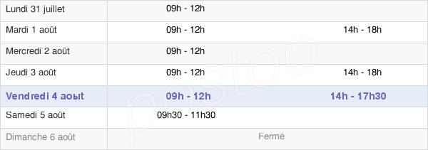 horaires d'ouverture de la Mairie De Montjean-Sur-Loire