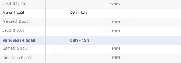 horaires d'ouverture de la Mairie De Saint-Jean-De-La-Croix