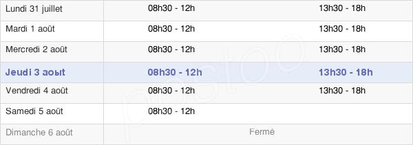 horaires d'ouverture de la Mairie De Saint-Macaire-En-Mauges