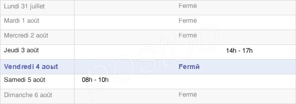 horaires d'ouverture de la Mairie De Cherré