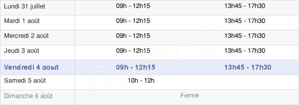 horaires d'ouverture de la Mairie De Sainte-Gemmes-Sur-Loire