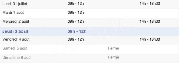 horaires d'ouverture de la Mairie De Vezins