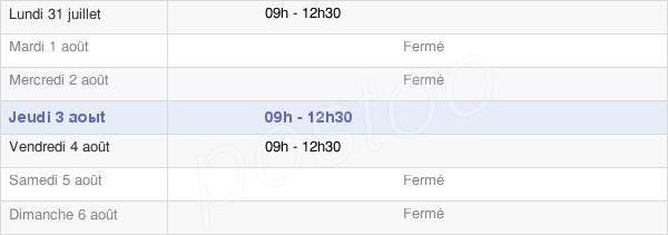 horaires d'ouverture de la Mairie De Saint-Macaire-Du-Bois