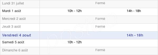 horaires d'ouverture de la Mairie De Chemiré-En-Charnie